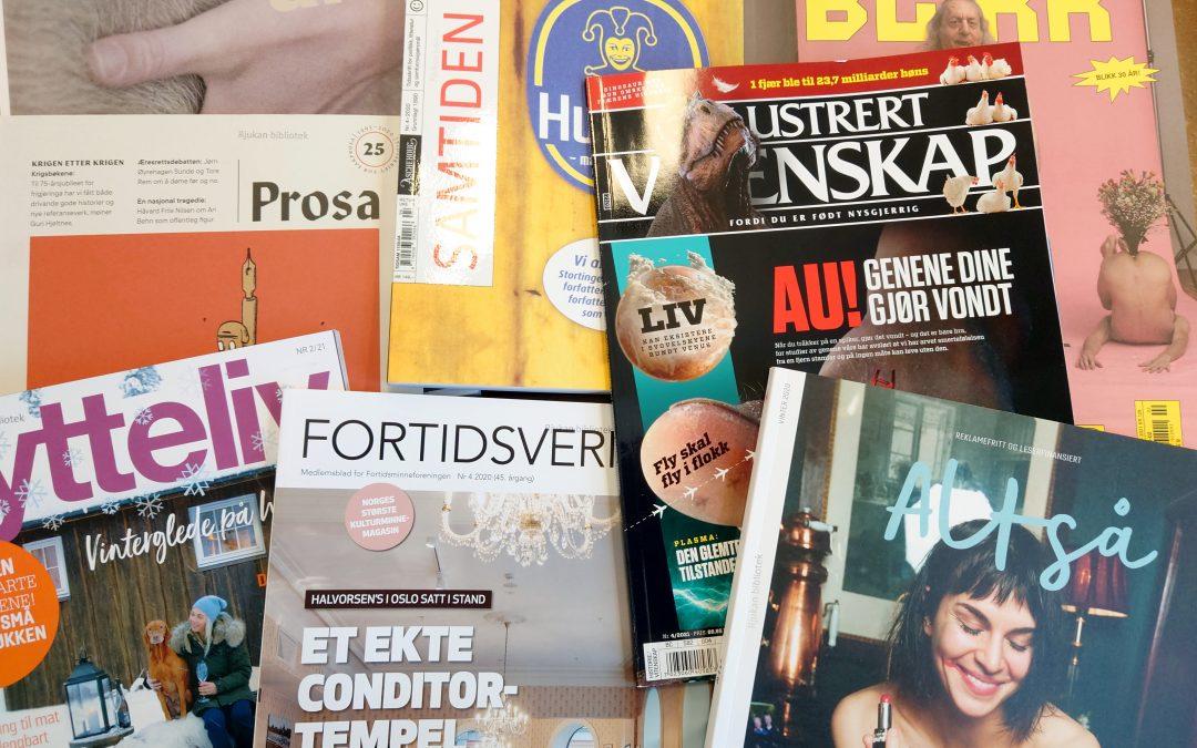 Tidsskrifter på Rjukan bibliotek